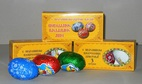 Set of products from milk chocolate easter in a yellow box, 60 g
